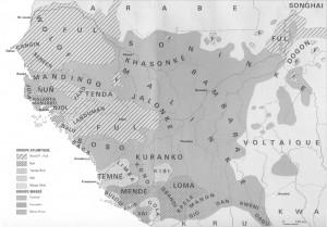 Carte des Sous Groupe du Mandèn