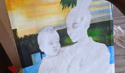 En création 2 Maman et bébé