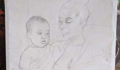 En création 1 Maman et bébé